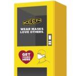 KEENの自動販売機!? atmos銀座店に、それは突如として現れた。